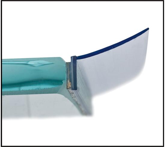 Duscht?rdichtung : Duscht?rdichtung selbstklebend Glasdicke 8 mm mit Wasserabweiser – BO
