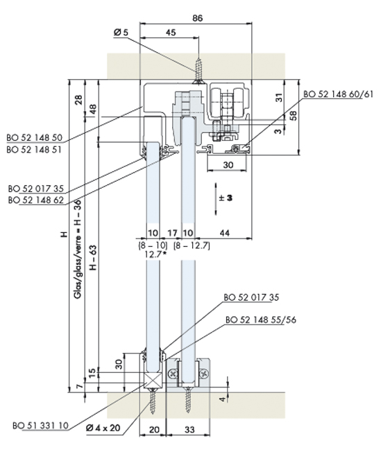 Sliding Glass Cabinet Door Hardware - Saudireiki
